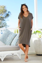 bird keepers The Drape Jersey Dress