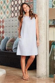 The Cotton Stripe Shift Dress