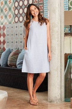The Cotton Stripe Shift Dress
