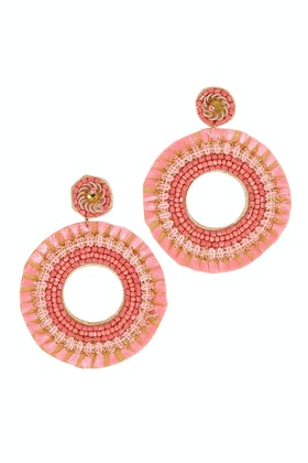 Eb & Ive Festiva Disc Earrings