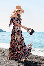 boho bird Dance With Me Maxi Dress