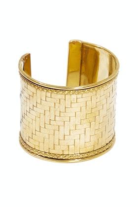 Eb & Ive Jalapa Brass Cuff Bracelet