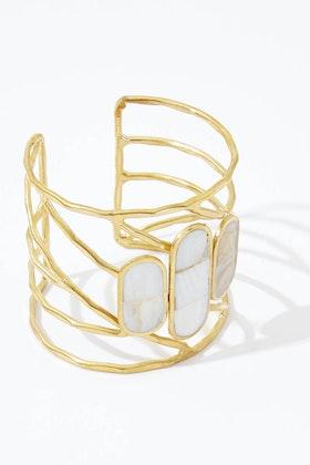 Eb & Ive Mother Of Pearl Juarez Cuff Bracelet