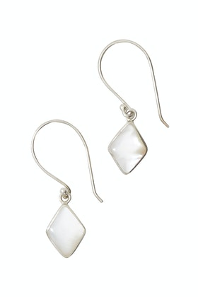 Lush Designs Moonlight Diamond Mother Of Pearl Earrings