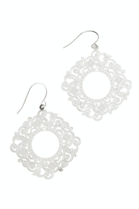 Tiger Tree Spanish Laser Lace Earrings