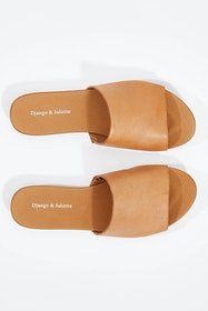 Jallas Leather Flat Sandal