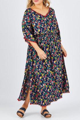 Naudic Flamingo Dress Roza Print