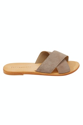 f745d8433a4a42 Just Because Arambol Leather Flat Sandal