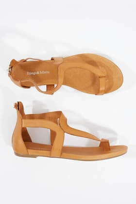 Django & Juliette Jackson Leather Flat Sandal