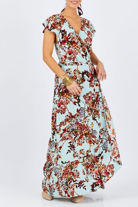 boho bird Tuscany Wrap Dress