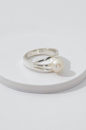 Lush Designs Ripple Pearl Sterling Silver Ring