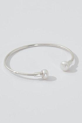 Lush Designs Stevie Pearl Sterling Silver Cuff Bracelet