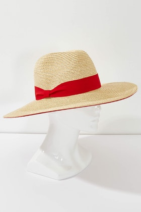 Morgan & Taylor Double Stripe Brim Hat