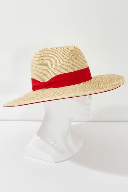 Morgan   Taylor Double Stripe Brim Hat - Womens Sun Hats - Birdsnest ... 2aeee001fc