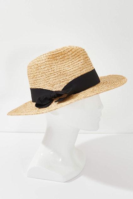 Morgan   Taylor Classic Straw Fedora Hat - Womens Sun Hats ... a1140ba7f7