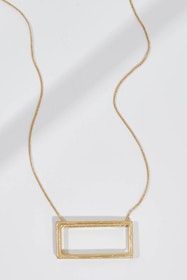 Rectangle Long Necklace
