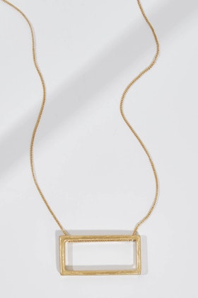 365 Days Rectangle Long Necklace