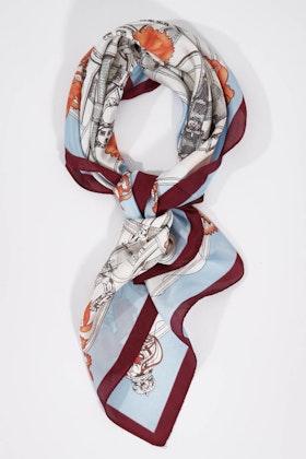 Morgan & Taylor Classic Print Tie Scarf