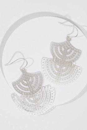 Tiger Tree Silver Nefertiti Earrings