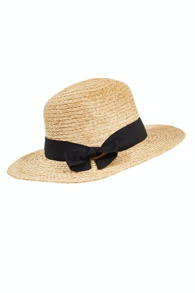 Morgan & Taylor Classic Straw Fedora Hat