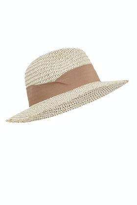 Morgan & Taylor Modern Detail Fedora Straw Hat