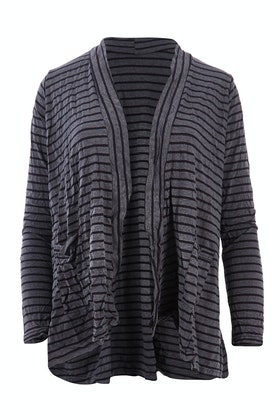Vigorella Cotton Stripe Cardi With Pockets