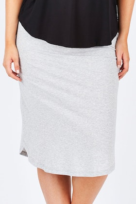 Vigorella Organic Cotton Curved Hem Skirt