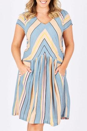 handpicked by birds Stripe Summer Dress