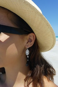 Boho Pearl Tassel Earrings