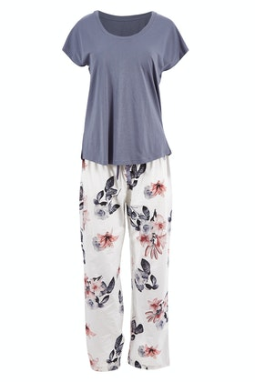 Gingerlilly Gayle Boxed Tee And Pant Pj Set