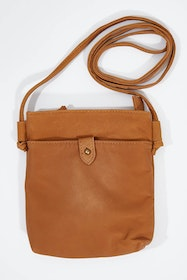 Press Stud Leather Pinch Bag