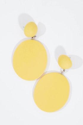 Ruby Olive French Twist Disc Earrings