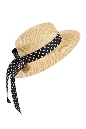 Morgan & Taylor Polka Dot Boater Hat