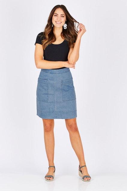 751d9e1625c JAG clothing Asha Denim Skirt - Womens Knee Length Skirts - Birdsnest  Online Fashion Store