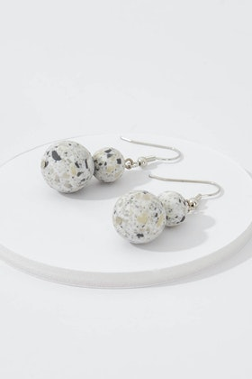 Rare Rabbit Two Bead Drop Earrings