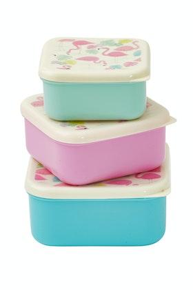 Rex London Flamingo Bay Set Of 3 Snack Boxes