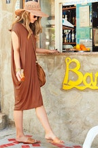 boho bird Softly Falling Bamboo Dress
