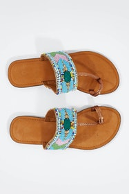 Anika Beaded Flat Sandal