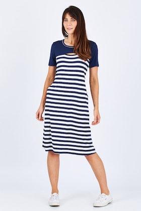 Threadz Stripe Jersey Dress