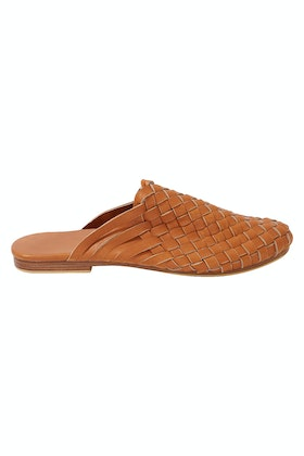 Scandic Gypsy Leather Woven Mule