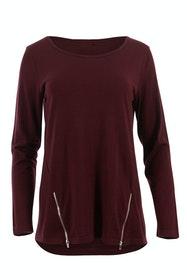 Merino Wool Top With Zips
