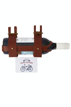 Men's Society Leather Bicycle Wine Bottle Holder