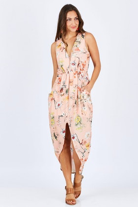 Spicy Sugar Zip Front Floral Printed Dress
