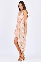 Spicy Sugar Zip Front Floral Printed Dress