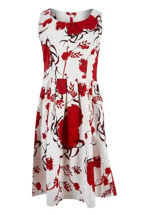 Spicy Sugar Red Floral Flowy Dress