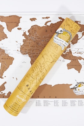 IS Gifts Luckies Scratch Map Travel Edition