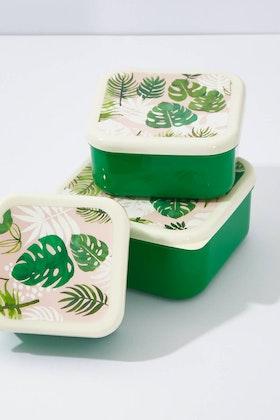 Rex London Tropical Palm Set Of 3 Snack Boxes