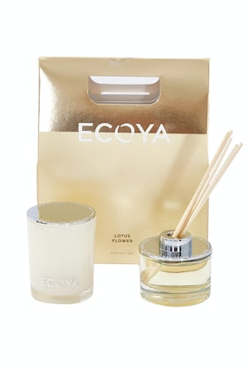 Ecoya Lotus Flower Mini Candle And Diffuser Gift Set