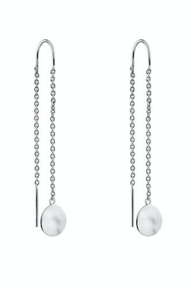 Najo Double Beat Thread Sterling Silver Earrings
