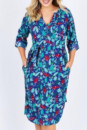 that bird label Edwina Midi Dress Jungle Fever